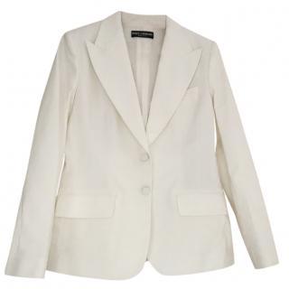 Dolce and Gabbana White Blazer