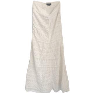 Isabel marant white lace maxi skirt