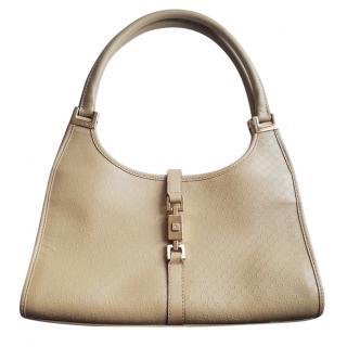 Gucci beige monogram handbag