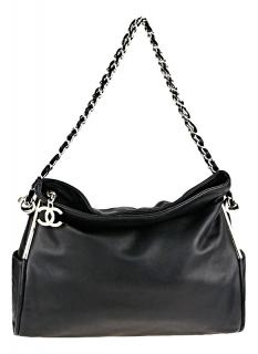 Chanel Black Lambskin Leather Ultimate Soft Bag