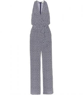 Tory Burch Polka-Dot Silk Jumpsuit