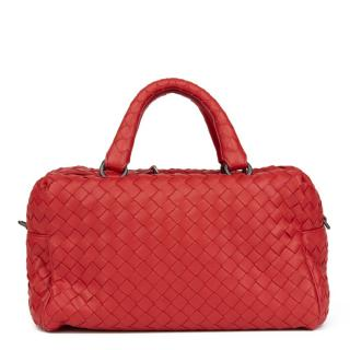 Bottega Veneta China Red Mini Top Handle Bag