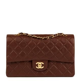 Chanel Chocolate Brown Medium Classic Double Flap Bag