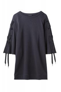 Luisa Cerano Navy Sweater Dress