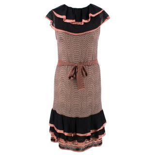 Missoni Zig Zag Print Flounce Dress