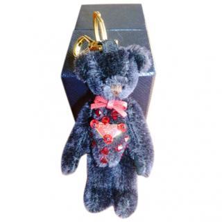Prada Bead Embellished Mohair Teddy Keychain