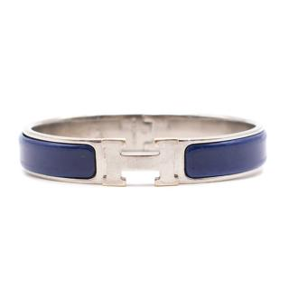 Hermes Palladium Plated Narrow Clic H Bracelet