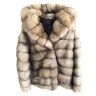 Canadian Sable hooded fur jacket