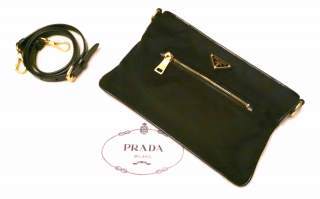 Prada Black Nylon 2way Shoulder Bag