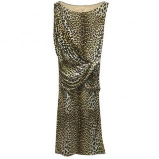 Giambattista Valli leopard print dress S