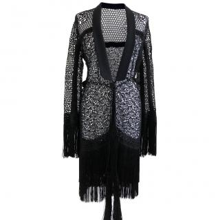 Ermanno Scervino Black Lace Jacket Size 42