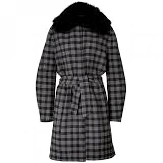Angona Cashmere Coat with a Fur Collar