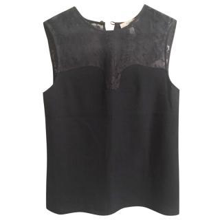 Erdem black lace top