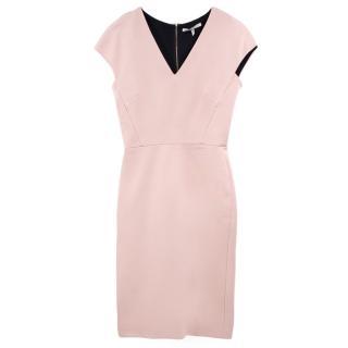 Victoria Beckham Fitted Stretch Midi Dress