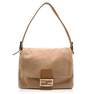 Fendi wool baguette shoulder bag