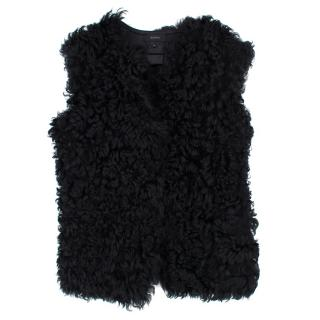 Joseph Black shearling and leather reversible gilet
