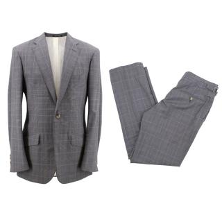 Richard James Bespoke wool checked suit