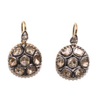 Bespoke indian diamond gold small drop earrings
