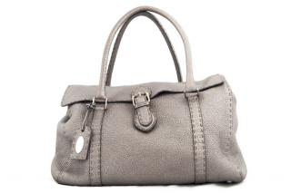 Fendi Selleria Grey Shoulder Bag