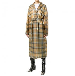 Burberry Vintage Check Soft-touch Plastic Single-breasted coat Size 38