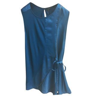 Robert Cavalli blue silk top