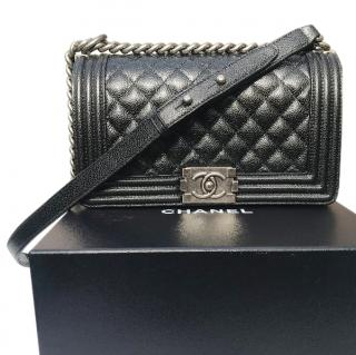 Chanel Caviar Leather Boy Bag