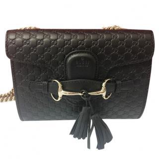 Gucci Emily Small Black Shoulder Bag
