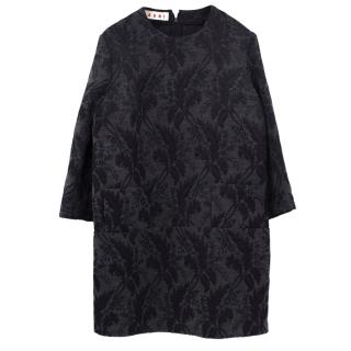 Marni embroidered wool blend dress
