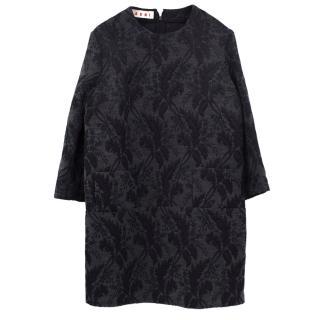 Marni embroidered wool blend dress