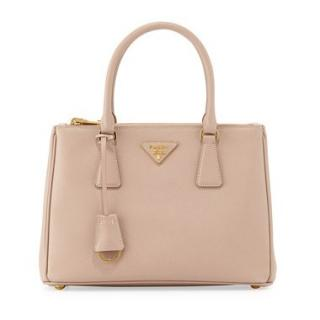 PRADA Cammeo Saffiano Lux Double Zip Small Tote Bag