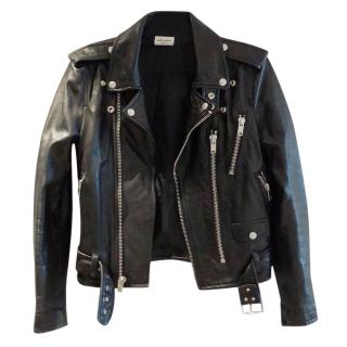 Saint Laurent belted lamb leather jacket