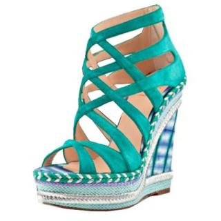 Christian Louboutin Tosca Blue 140 Wedges