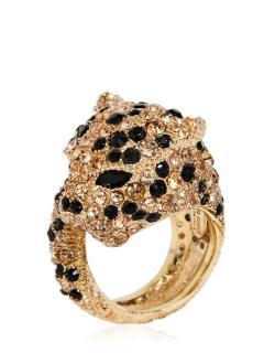 Roberto Cavalli Gold-plated Swarovski crystal panther bracelet