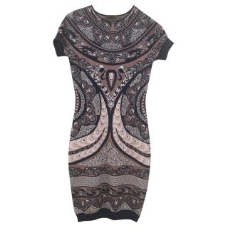 Alexander McQueen Printed Fitted Dress