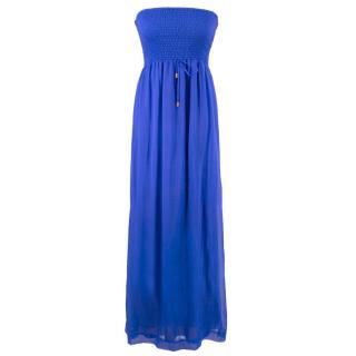 Heidi Klein Strapless shirred silk-chiffon maxi dress