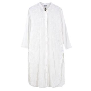 Juliet Dunn hand embroidered shirt dress