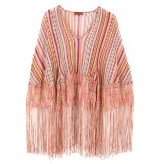 Missoni striped fringed knit top