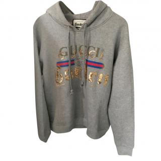 Gucci Grey Garden Collection embellished hooded sweatshirt