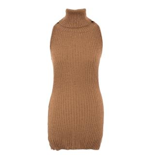 Dolce & Gabbana metallic knit roll neck top