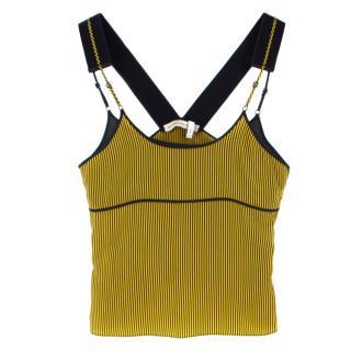 Balenciaga striped silk racerback top