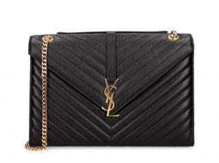 YSL noir 'Envelope' chain bag