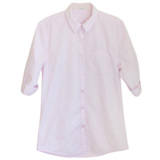 Acne baby pink button down 'worthy' shirt