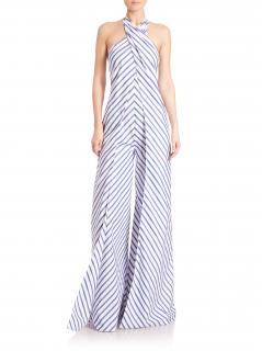 Ralph Lauren collection adelaide striped wide leg jumpsuit