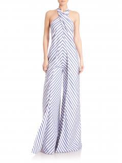 Ralph Lauren collection adelaide striped wide leg jumpsuit