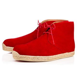 Christian Louboutin Neocadaques Lace-Up Suede Espadrilles
