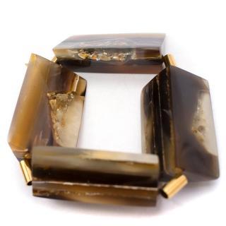 Marni Resin Horn & Semi-precious Stone Cuff Bracelet