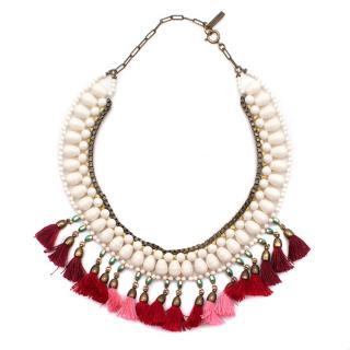 Isabel Marant Beaded Tassel Necklace