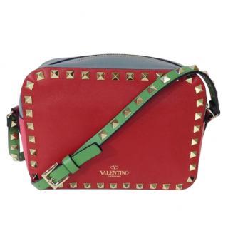 Valentino Rockstud Crossbody Leather Camera Bag