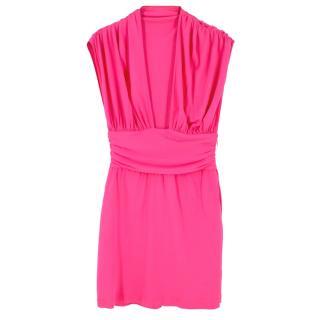 Celine pleated pink dress