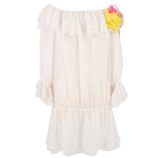 Dolce & Gabbana silk ruffle dress